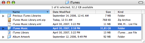 iTunes ZippedXML